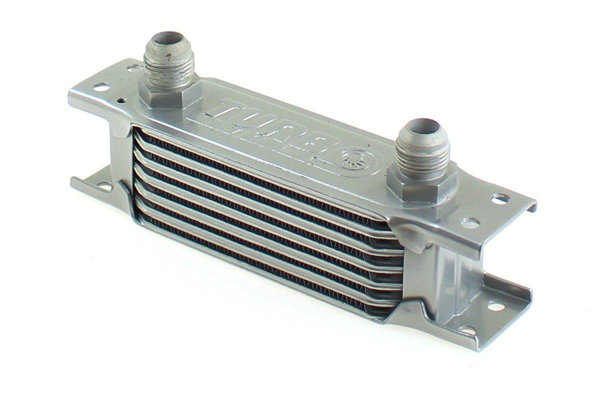 Chłodnica Oleju TurboWorks Slim Line 7-rzędowa 140x50x50 AN10 silver - GRUBYGARAGE - Sklep Tuningowy